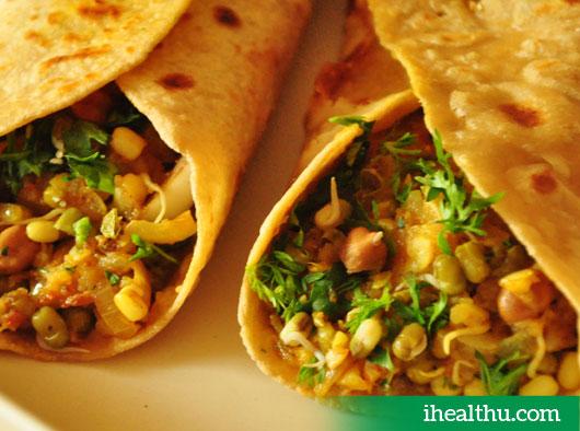 Healthy recipe - Sprouts Wrap